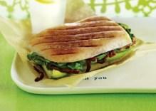 avocado spinach panini via vegetarian times