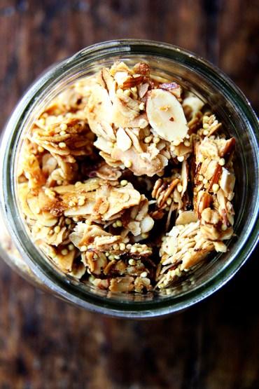 coconut oil granola via alexandra cooks