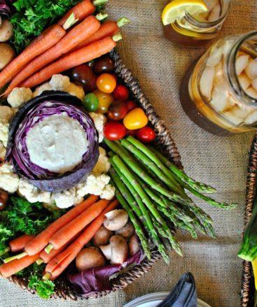 farmers market veggie tray via simply scratch
