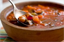 vegetable soup via nytimes