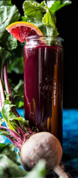 citrus beet energy juice via half baked harvest
