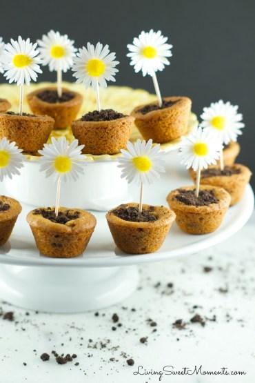 flower pot cookies via living sweet moments
