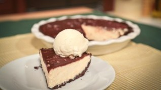 chocolate peanut butter pie via chef carla hall