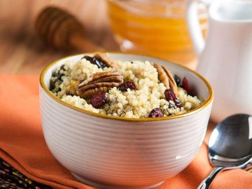 cinnamon breakfast quinoa via silk
