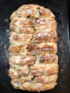 orange pistachio scone bread via jem of the south