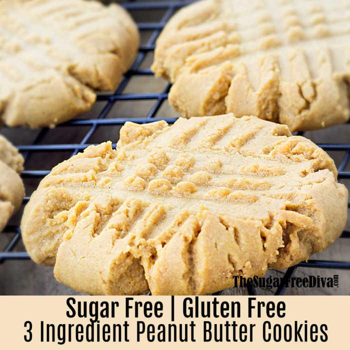 3-Ingredients Peanut Butter Cookies