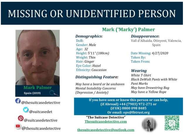 Missing Poster for Mark Palmer