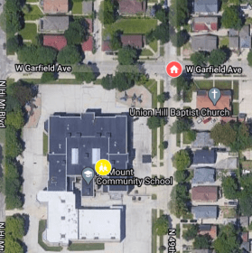 Map of the school and street where Alexis Patterson went missing