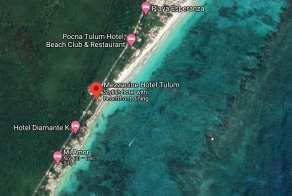 Google Earth view of the Mezzanine Hotel Area