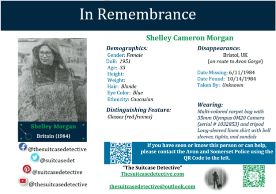 Missing Person poster for Shelley Morgan