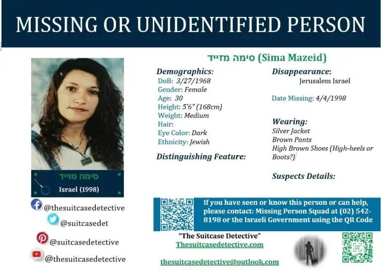 Missing Person photo for  סימה מזייד (Sima Mazeid)