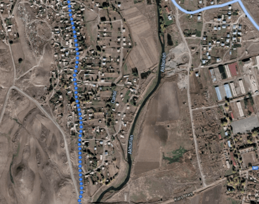 Map of Arapi where Vachagan Asatryan (Վաչագան Ասատրյանը ) disappeared