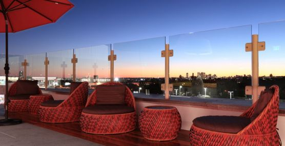 The Huxley - Rooftop BBQ Lounge Seating