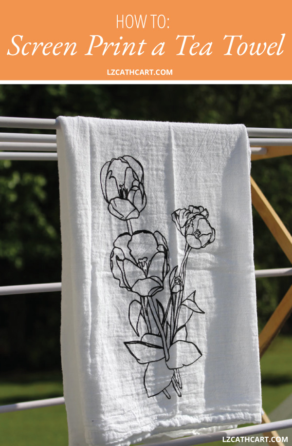 Download How to Screen Print a Custom Tea Towel: FREE Tulip SVG ...