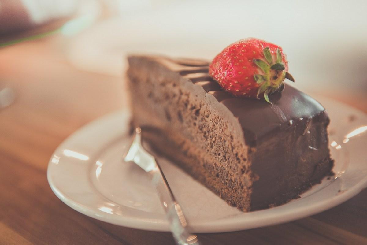 Chocolate cake My Mini Round the World Trip with Aeroplan