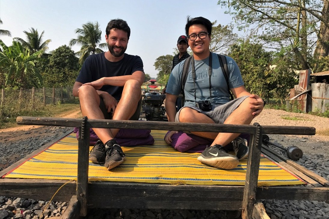 bamboo train at Battambang Budget Breakdown How To Spend Less Than $50 Per Day in Cambodia