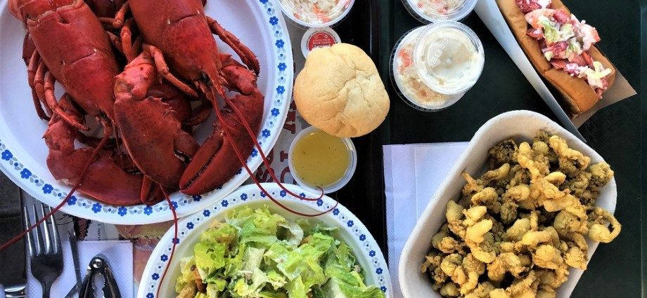 Seafood feast at Lobster Deck Shediac Top 5 Eats in Atlantic Canada