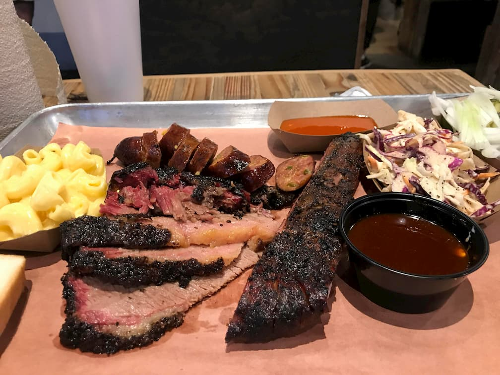 The Pit Room BBQ Platter Houston