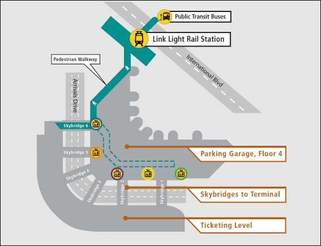 How to Get to the Light Rail at SeaTac Airport (Video) Map Of Trains In Seattle on map of trains in illinois, map of trains in barcelona, map of trains in paris, map of trains in new york, map of trains in tokyo, map of trains in boston,