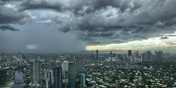 Looking out over Makati and towards BGC from Gramercy Residences