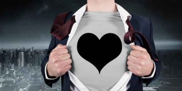 super hero love heart