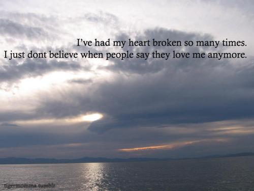 don't believe in love