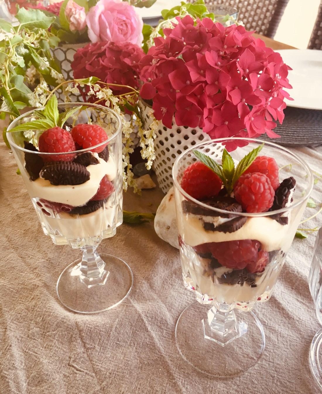 Mascarpone, Oreo, Himbeeren, Dessert, Dessert im Glas