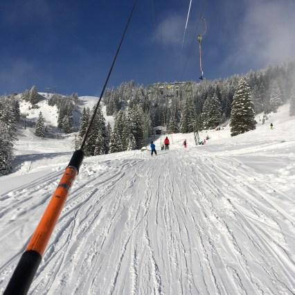 Tellerlift, brand, Skifahren, wunderschöner Skitag