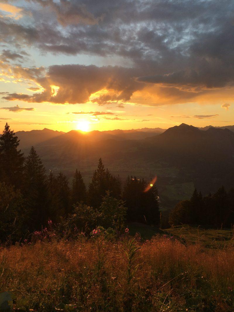 Sonnenaufgang bödele