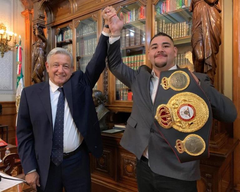 Andy Ruiz Jr., example of struggle, dedication and perseverance, says López Obrador