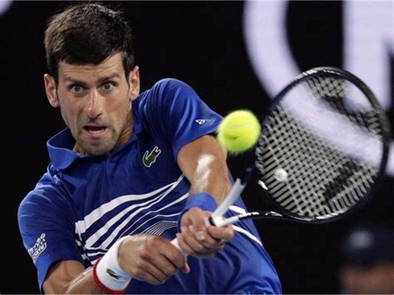Novak Djokovic works to get into the third round alongside Thiem