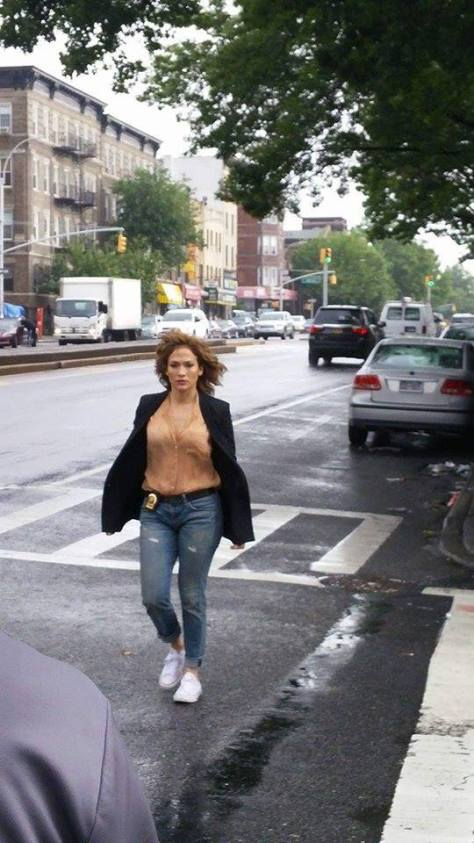 Photo:  Jennifer Lopez on 4th Ave Between 43rd & 44th Streets in Brooklyn