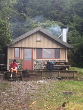 Coldwater Hut, resting our weary feet