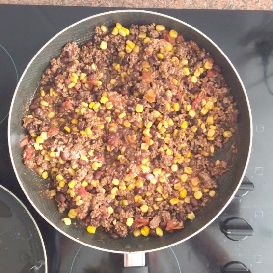 Mexican Chili Mince in the fry pan.