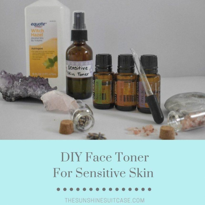 DIY Facial Toner for Sensitive Skin with Essential Oils