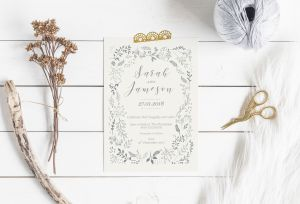 The Paper Fox Studio - Wedding invitation
