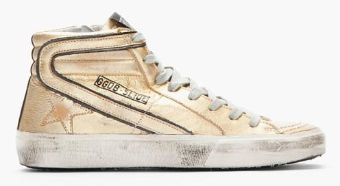 Golden Goose Metallic Gold Leather