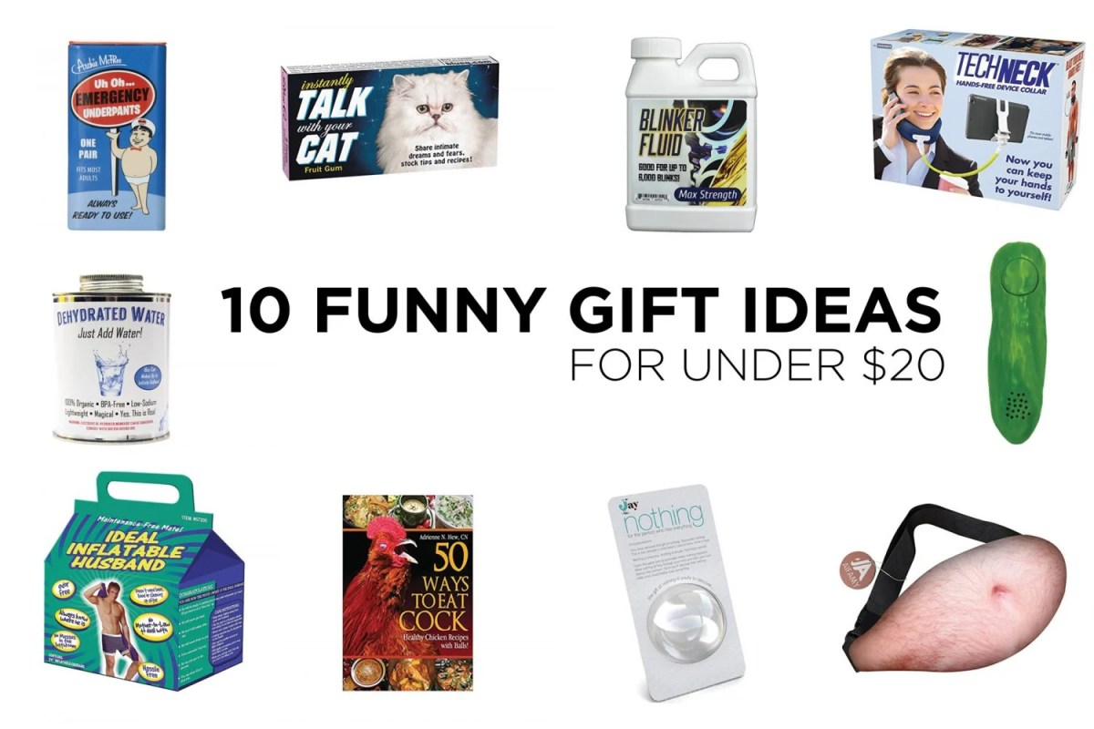 10 Funny Gift Ideas for Under $20