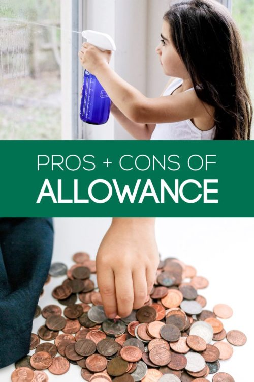 Some don't believe in paying children an allowance while others find it's a great way to teach their child about money management. Here are the pros/cons.