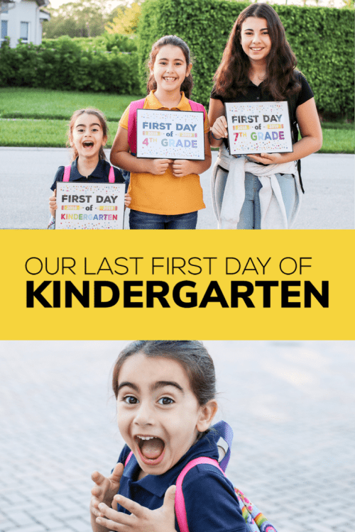 I was so excited for our youngest daughter's first day of Kindergarten, until I realized it would be our last.  And my heart broke.