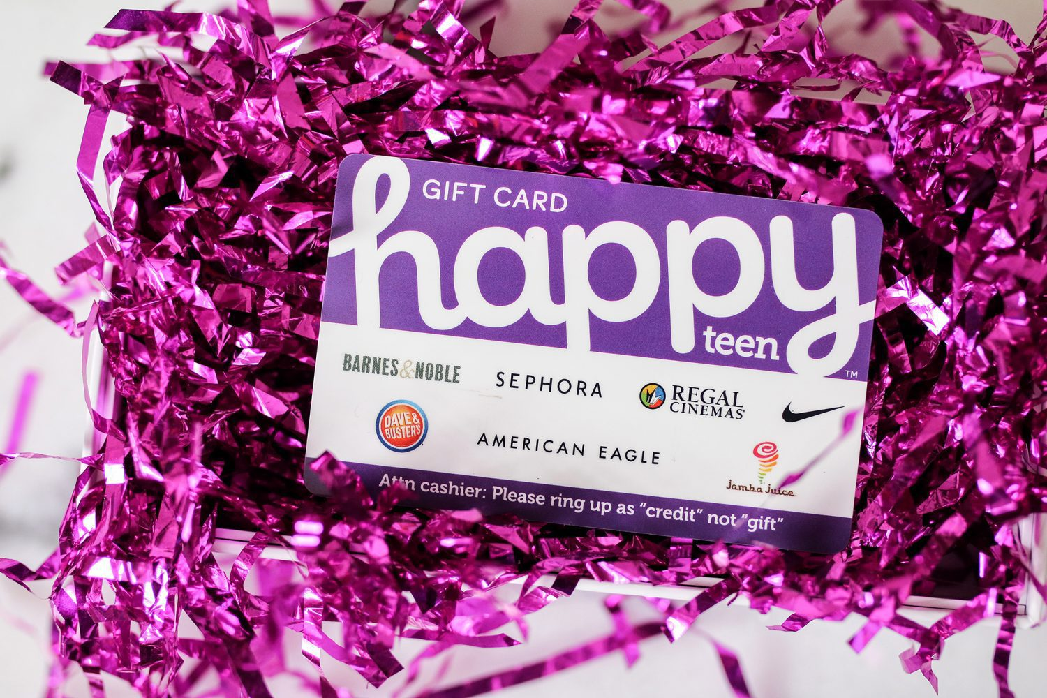 happy card, what to buy a teenager, happy teen, gift card, best, gift, present, shopping, tween, teen, teenagers, children, kids, mom blog, mom blogger, mommy blog, mommy blogger, 2018, family blog, parenting blog, the super mom life, thesupermomlife, parenting blogger, family blogger