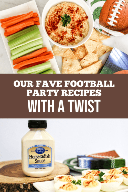 There's only so much pizza and chicken wings you can serve when you're throwing a football party. #ad Want to wow your guests? Check out my two favorite traditional recipes with a twist, featuring Silver Spring Foods horseradish. #GiveItZing