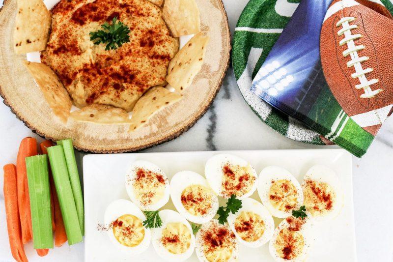 hummus, deviled eggs, horseradish, tailgating recipes, recipes for football party, easy recipes, recipe, recipes, kid foods, mom blog, mom blogger, mom bloggers, mom blogs, family friendly dishes, recipes, recipe, food blog, food bloggers