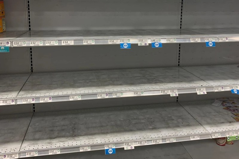 empty shelves at publix