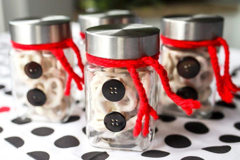 snowman jar table decor for christmas