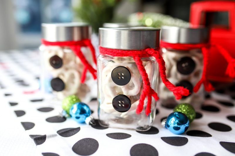 snowman jar table decor for christmas