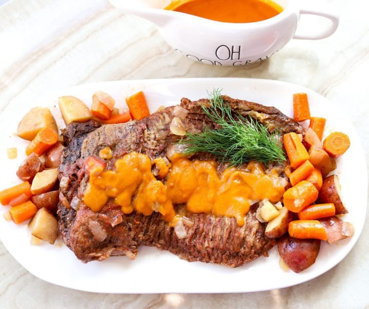 Nana's Slow Cooker Pot Roast with Homemade Gravy