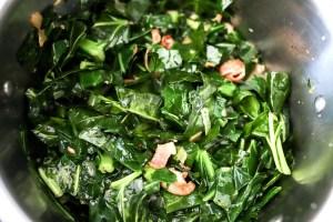 collard greens prior to cooking