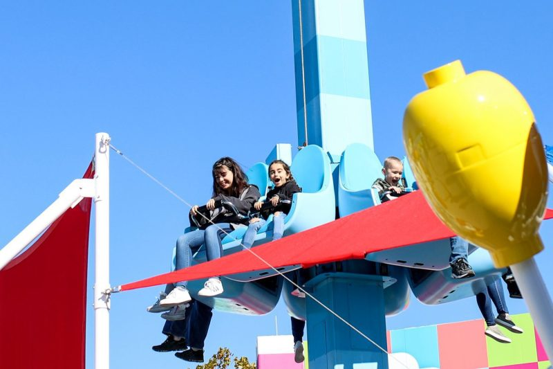 sisters enjoying a ride at legoland