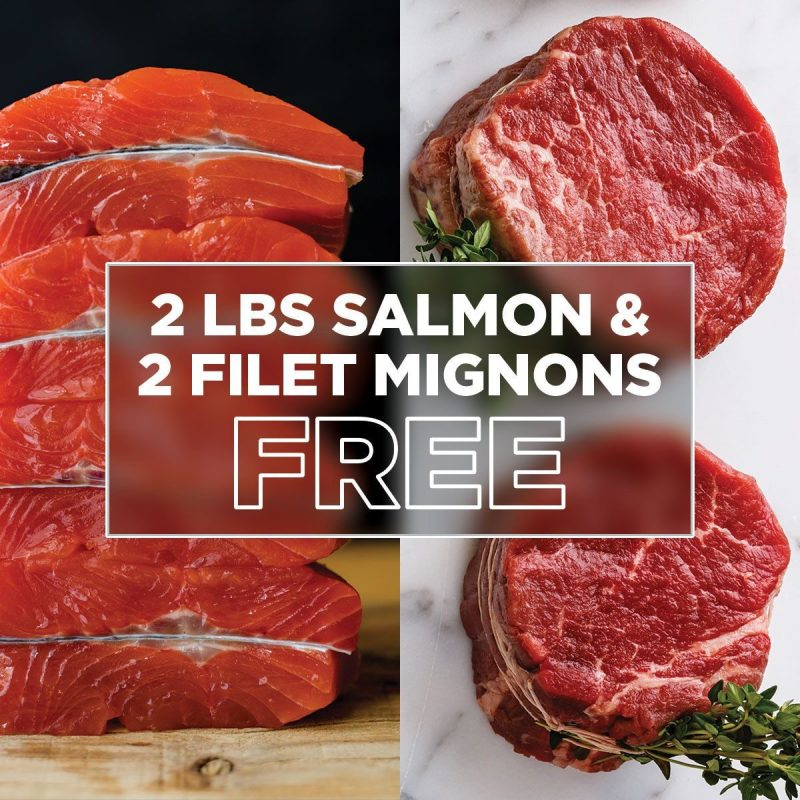 ButcherBox deal 2lbs salmon and 2 felt mignons free